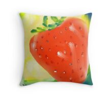 juicy strawberry Throw Pillow