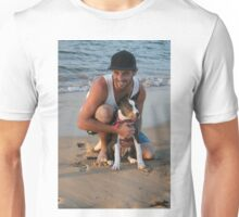 13. Dave & his American Staffy Unisex T-Shirt