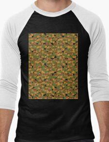 Autumn leaves pattern (Plane tree) wallpaper Men's Baseball ¾ T-Shirt