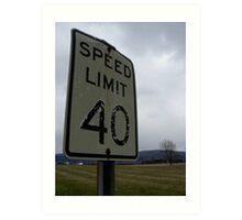 40 mph Art Print