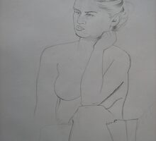 Danni Life Drawing. by PeterVan