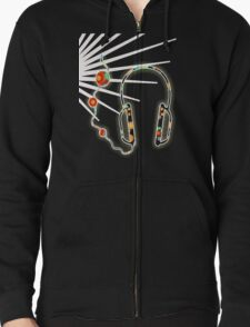 Lost in Music T-Shirt Zipped Hoodie