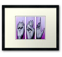 sign language Framed Print