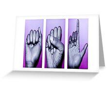 sign language Greeting Card