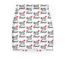 Peace in Korean and English txt vector art Mini Skirt