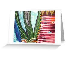 the coral snake of the red bruxa Greeting Card
