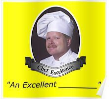 """""""An Excellent ____"""" Sticker Poster"""