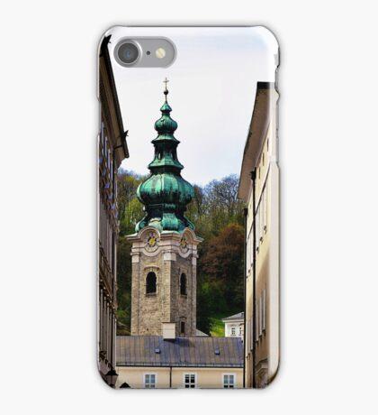 Medieval lane Salzburg Austria iPhone Case/Skin