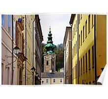 Medieval lane Salzburg Austria Poster