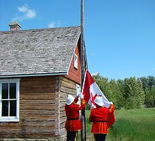 Flag Raising - Canada Day Celebration III by Al Bourassa