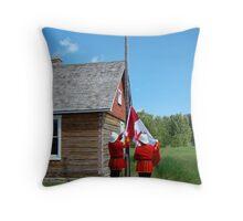 Flag Raising - Canada Day Celebration III Throw Pillow