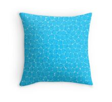 Pool water surface Throw Pillow
