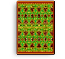 LEATHER-TRIBAL SPEARS Canvas Print