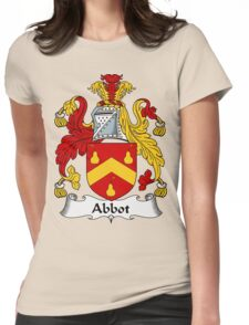 Abbot Family Crest / Abbot Coat of Arms Womens Fitted T-Shirt