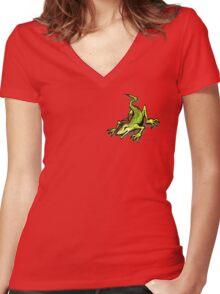Lizard Pocket Tee Women's Fitted V-Neck T-Shirt