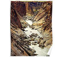 Oranje River, flowing through Augrabies National Park, RSA Poster