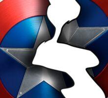 Cracked Captain Shield  Sticker