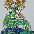 rainbow mermaid by linsads