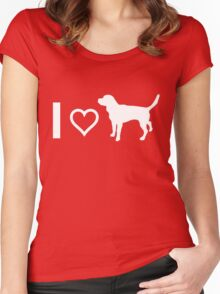 I Heart Beagles Women's Fitted Scoop T-Shirt