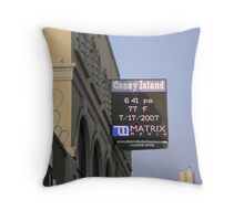 77 Degrees Coney Island Throw Pillow