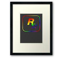 Rockstar Games Rainbow EFLC Logo Framed Print
