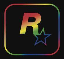Rockstar Games Rainbow EFLC Logo Kids Clothes