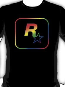 Rockstar Games Rainbow EFLC Logo T-Shirt