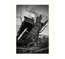 Tipping Outhouse Art Print