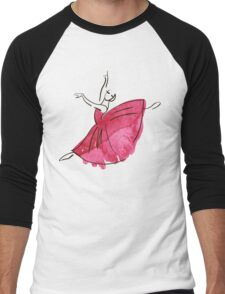 ballerina figure, watercolor Men's Baseball ¾ T-Shirt