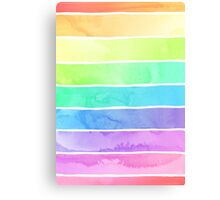 Summer Sorbet Rainbow Stripes Canvas Print