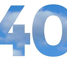 Number 40 - Heavenly 40th Birthday Design by theshirtshops