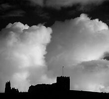 Clouds and Whitby Abbey by KwoArt