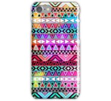 Neon Pink Purple Bright Andes Abstract Aztec Pattern iPhone Case/Skin