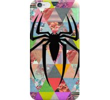 Spider-Man logo with hipster triangles iPhone Case/Skin