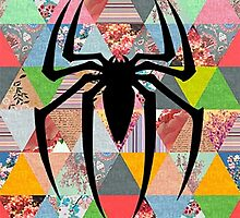 Spider-Man logo with hipster triangles by bella616