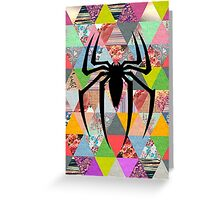 Spider-Man logo with hipster triangles Greeting Card