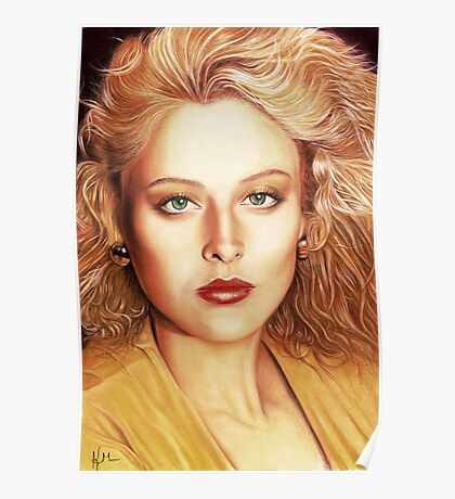 Virginia Madsen Color Pencil @ www.KeithMcDowellArtist.com   Poster