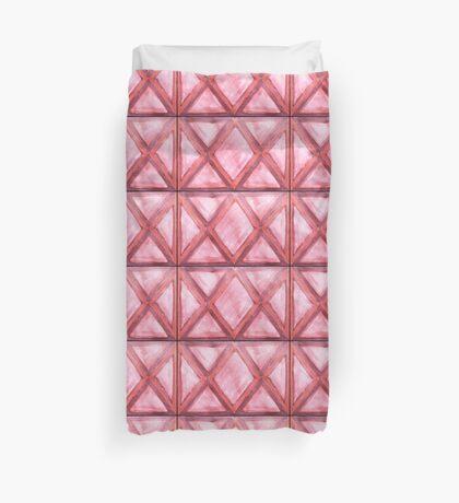 Red Diamond Hues Duvet Cover