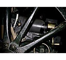 Wooden wheel of World War 1 canon Photographic Print