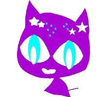 Purple kitten vetor art Photographic Print