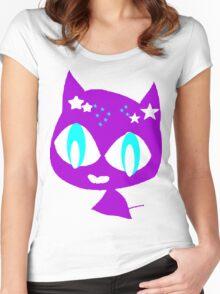 Purple kitten vetor art Women's Fitted Scoop T-Shirt