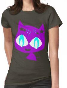 Purple kitten vetor art Womens Fitted T-Shirt