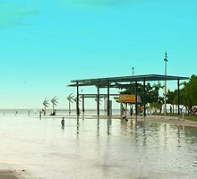 Cairns Esplanade Lagoon - Queensland Icon by Caroline Angell