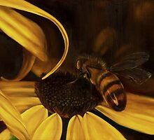 Bees at Dusk @ www.KeithMcDowellArtist.com  by © Keith McDowell, Artist
