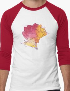 Peony flower Men's Baseball ¾ T-Shirt