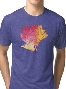 Peony flower Tri-blend T-Shirt