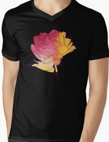 Peony flower Mens V-Neck T-Shirt