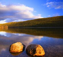 Late afternoon. Stanley Lake 2007 by Travis Ingle