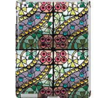 Purple Pink Green Modern Stained Glass Tiles  iPad Case/Skin