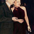 Frank Lloyd Wright and Anne Baxter @ www.KeithMcDowellArtist.com  by © Keith McDowell, Artist